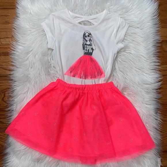 Girls skirt set